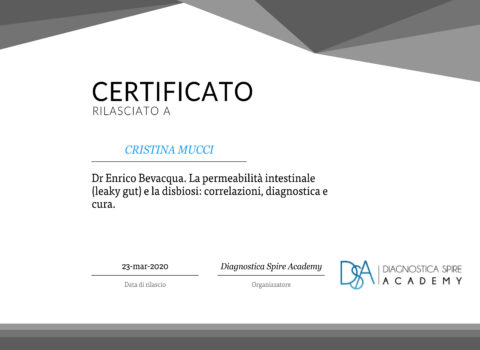 certificatePERMEABILITA INTESTINALE MARZO 2020